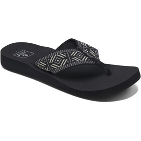 Reef Spring Woven Teenslippers Dames, black/white